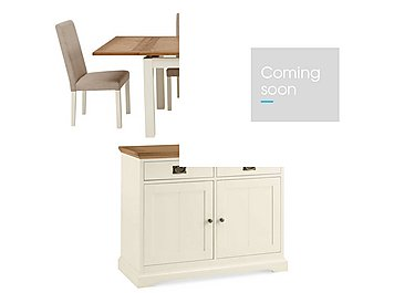 Compton Extending Dining Table with 4 Upholstered Chairs and Sideboard in  on Furniture Village