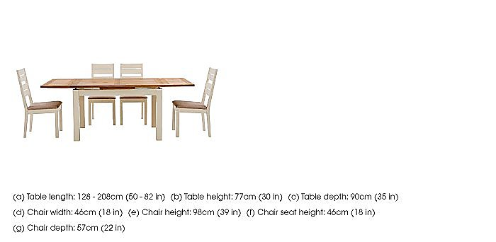 Compton Extending Dining Table and 4 Slatted Back Oak Chairs in  on Furniture Village