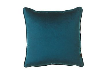 Cube Velour Teal Cushion in  on Furniture Village