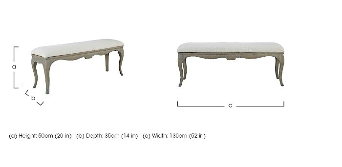 Camille Upholstered Bench in  on Furniture Village
