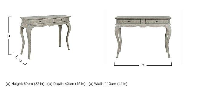 Camille Oak Dressing Table in  on Furniture Village