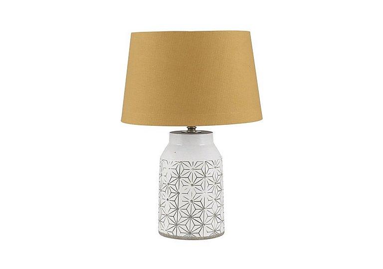 Cera Mustard Table Lamp in  on Furniture Village