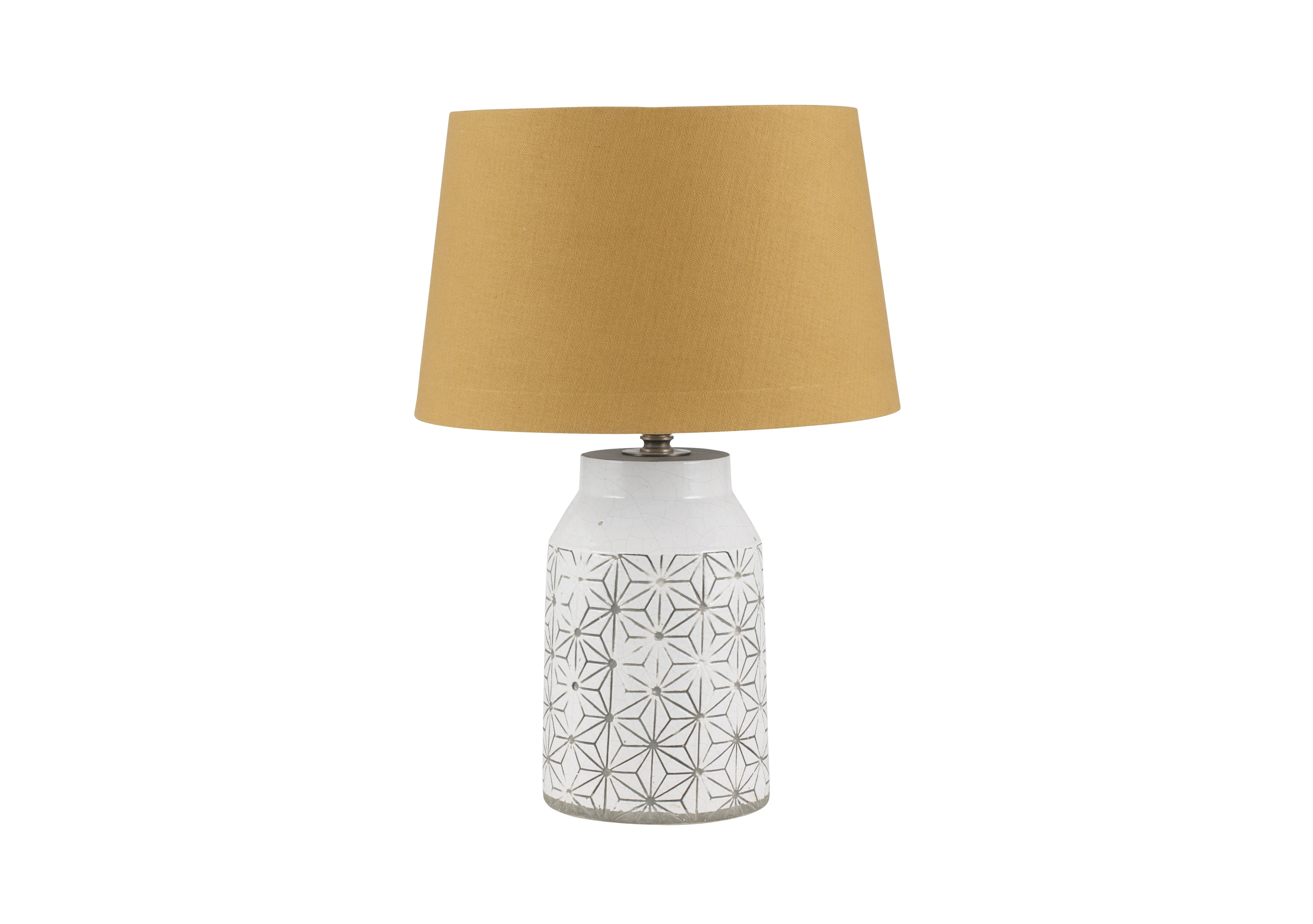 Cera Mustard Table Lamp. Loading Images