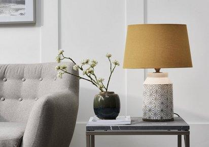 Cera Mustard Table Lamp
