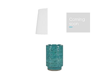 Ceri Aqua Table Lamp in  on Furniture Village
