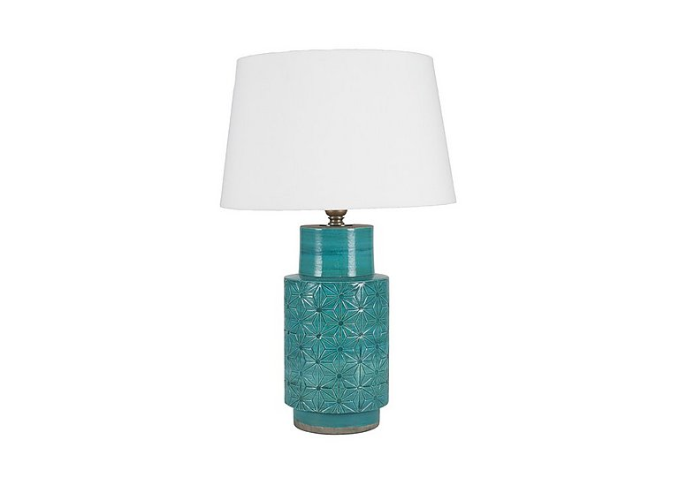 Ceri Aqua Table Lamp