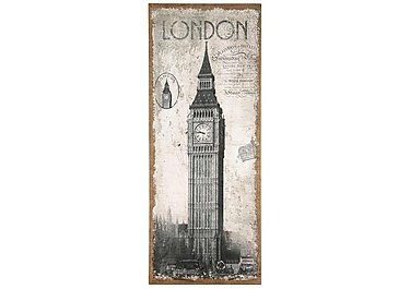 London Oblong Wall Canvas in  on Furniture Village