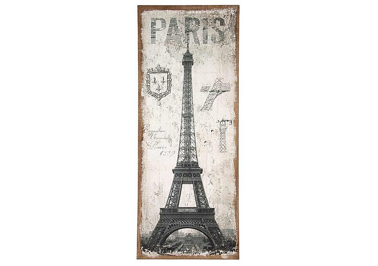 Paris Oblong Wall Canvas in  on Furniture Village