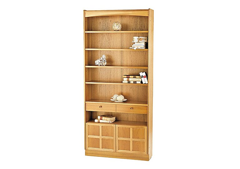 classic tall bookcase with doors nathan furniture village. Black Bedroom Furniture Sets. Home Design Ideas