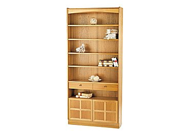 Classic Tall Bookcase with Doors in  on Furniture Village