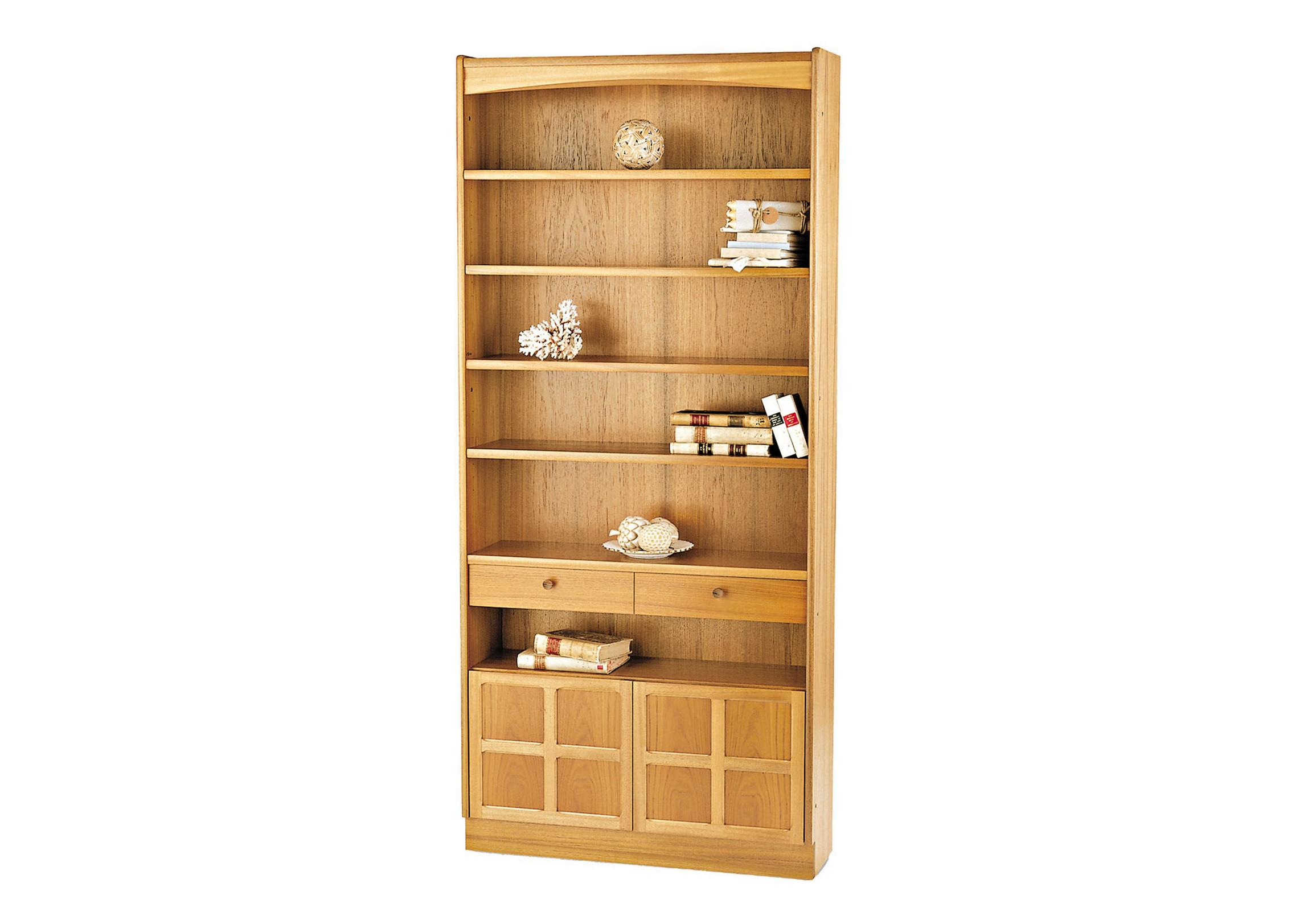 Classic tall bookcase with doors loading images
