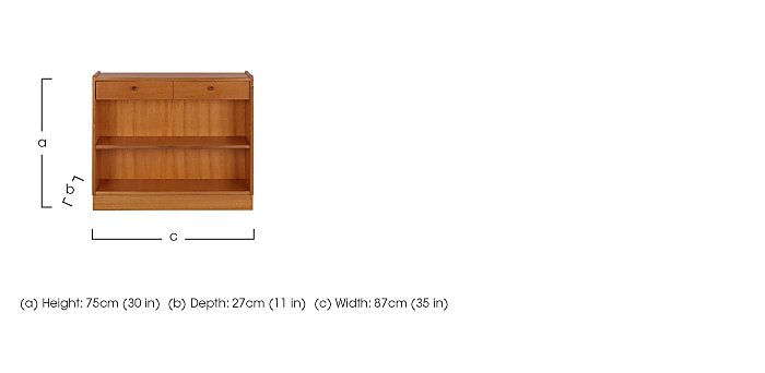 Classic Low Open Bookcase in  on Furniture Village