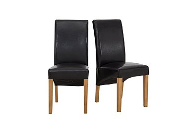 California Pair of Faux Leather Dining Chairs in  on Furniture Village