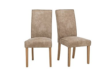 California Pair of Faux Suede Dining Chairs in  on Furniture Village