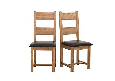 California Pair of Wood Ladderback Dining Chairs in  on Furniture Village