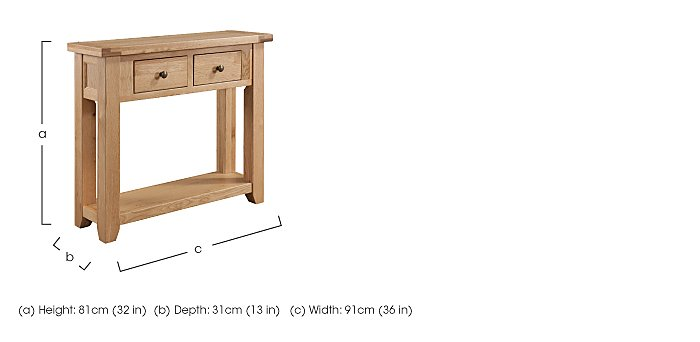 California Console Table in  on Furniture Village