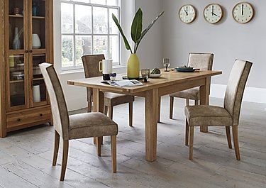Save £200. Furnitureland California Extending Rectangle Dining Table ...