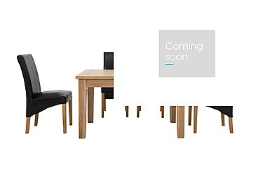 California Extending Rectangle Dining Table and 4 Faux Leather Chairs in  on Furniture Village