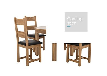 California Extending Round Dining Table and 4 Wood Chairs in  on Furniture Village