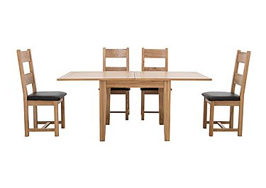 California Flip Top Table and 4 Wooden Chair in  on Furniture Village