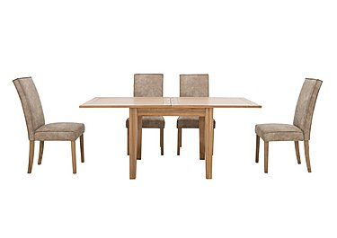 California Flip Top Table and 4 Faux Suede Chairs in  on Furniture Village