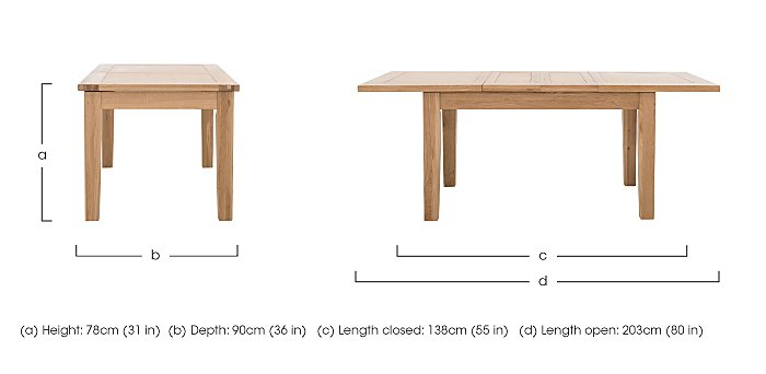 California Extending Rectangle Dining Table Furniture  : PRODCLFNEDTB 001californiaextending rectangle dining tabledimensionsdimension from www.furniturevillage.co.uk size 700 x 342 jpeg 19kB