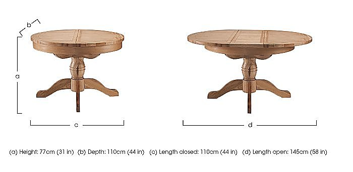 California Extending Round Pedestal Table in  on Furniture Village