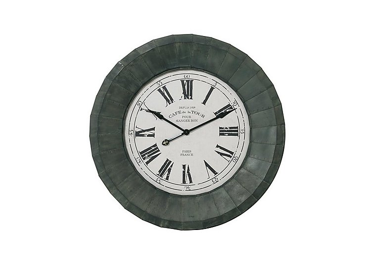 Paris Iron Clock in  on Furniture Village