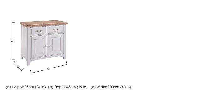 Cobham Small Sideboard in  on Furniture Village