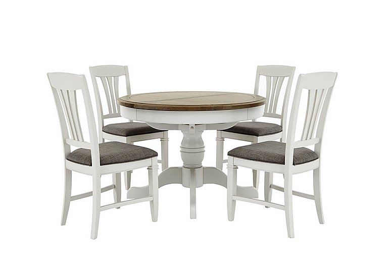 Cobham Round Table and 4 Chairs  sc 1 st  Furniture Village & Cobham Round Table and 4 Chairs - Furnitureland - Furniture Village
