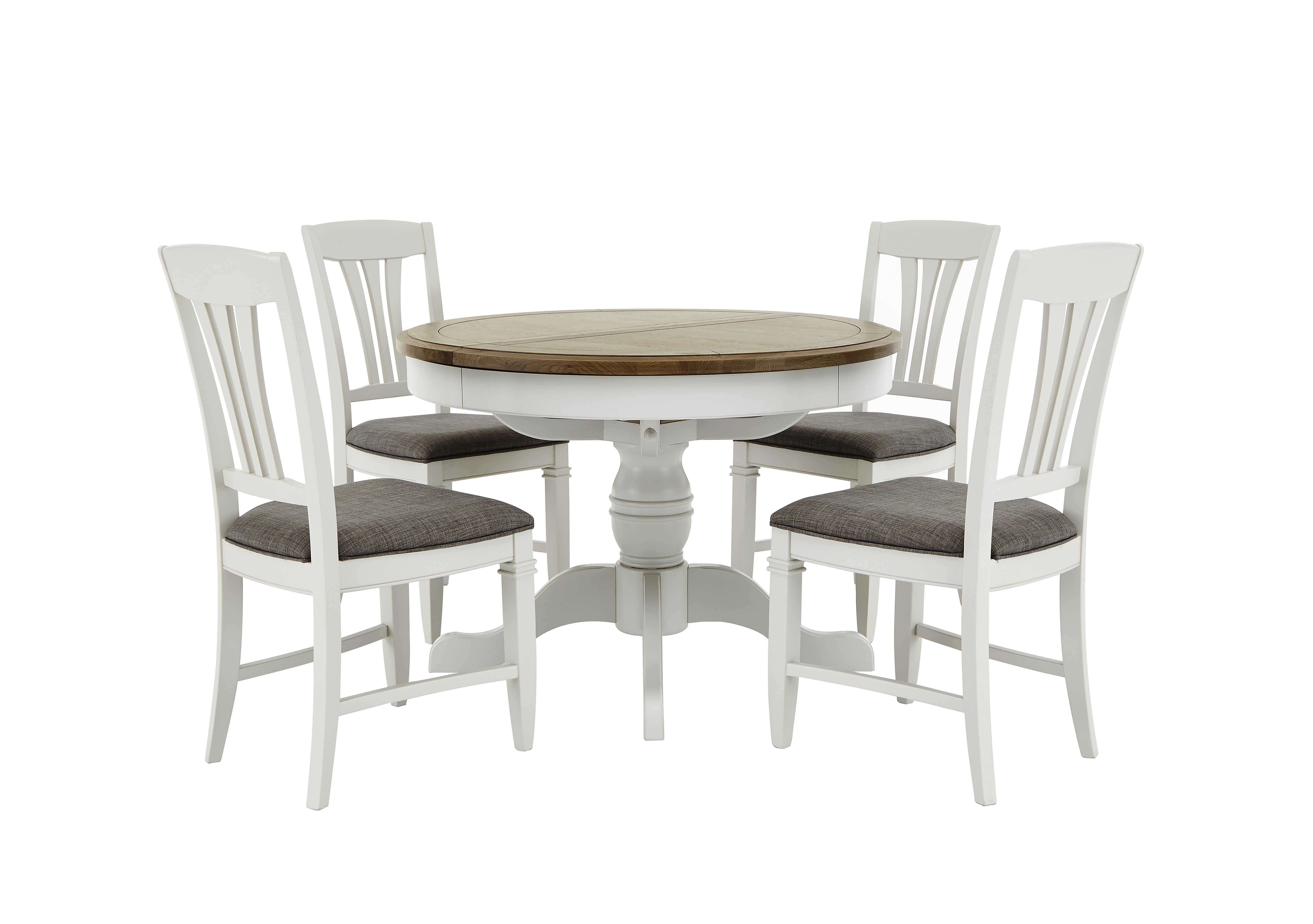 Cobham Round Table and 4 Chairs Furnitureland Furniture Village
