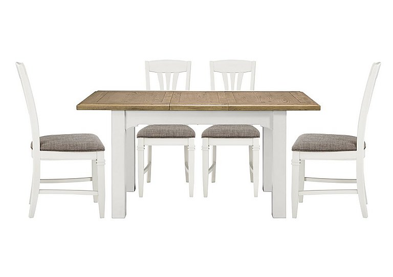 Cobham Rectangular Extending Table and 4 Chairs in  on Furniture Village