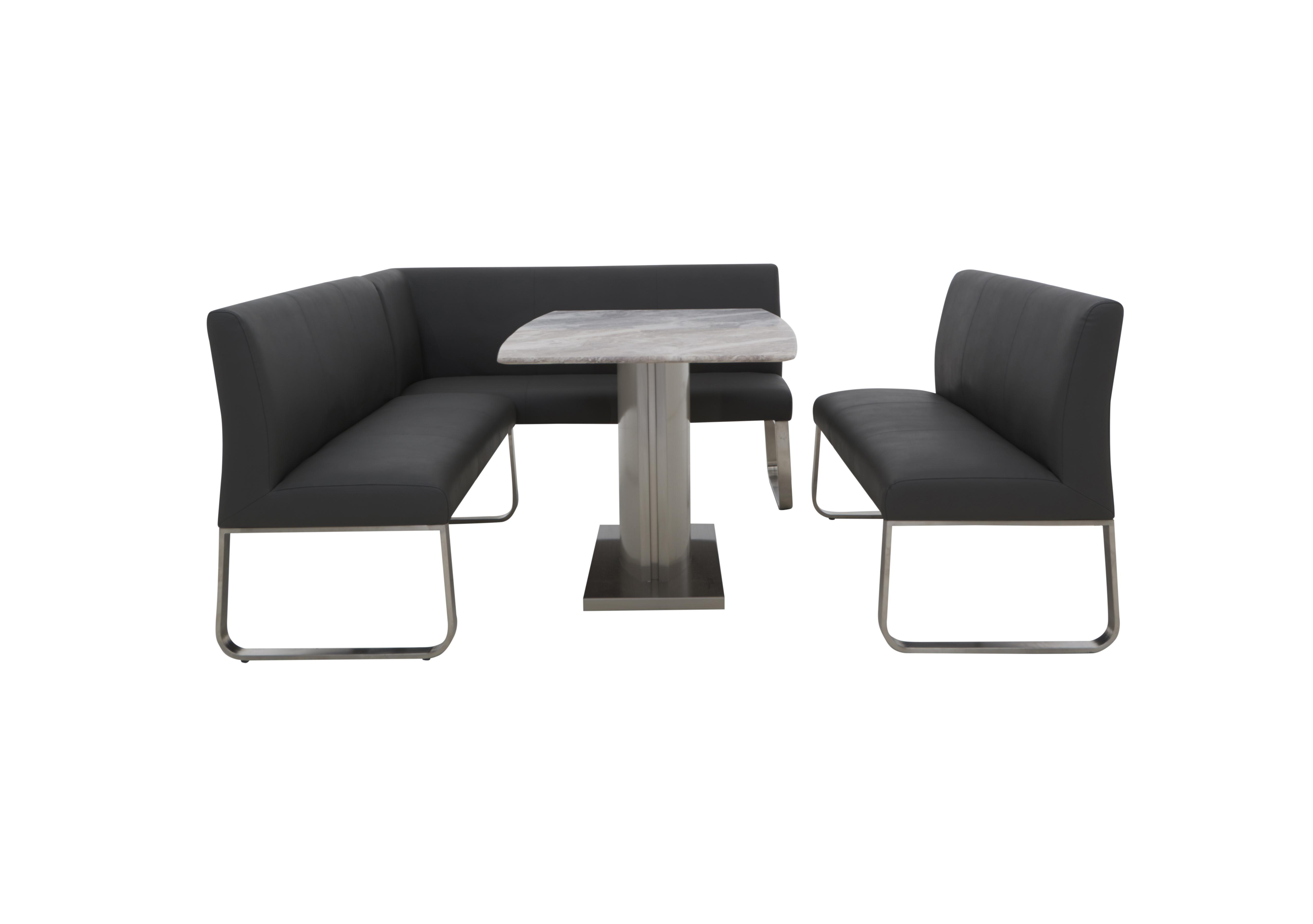 Cocoon Dining Table Right Hand Facing Corner Bench And High Back Bench Furniture Village