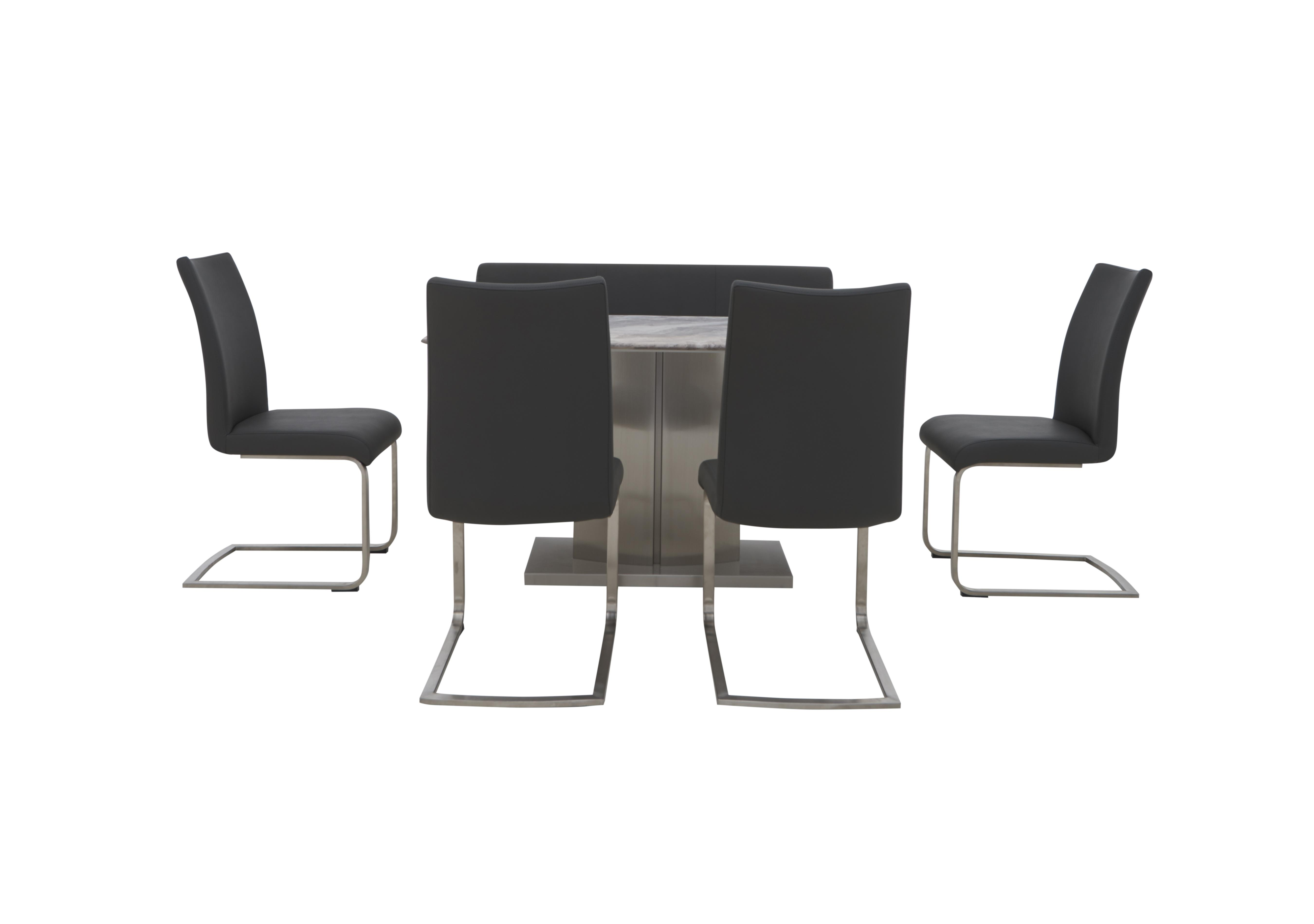 Picture of: Cocoon Dining Table 4 Chairs And High Back Bench Furniture Village