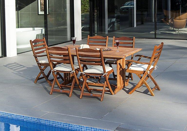 Cornis Rectangular 6 Seater Dining Set in  on Furniture Village
