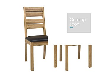 Compton Pair of Slatted Oak Dining Chairs in  on Furniture Village