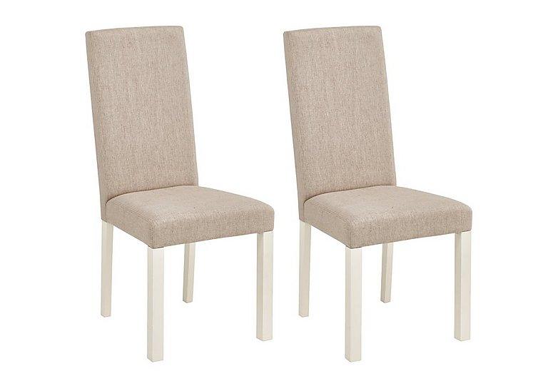 Charming Compton Pair Of Upholstered Dining Chairs