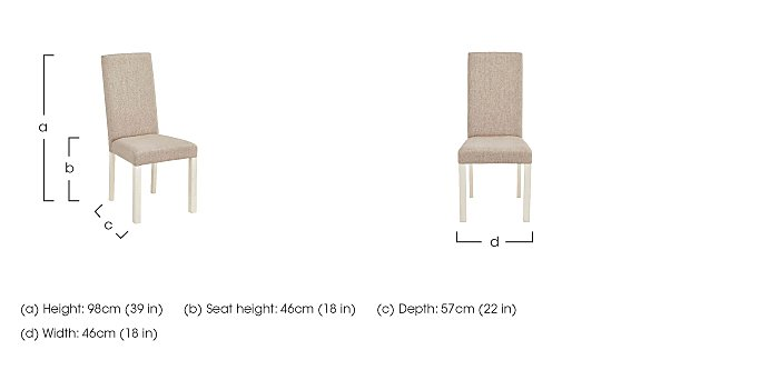 Compton Pair of Upholstered Dining Chairs in  on Furniture Village