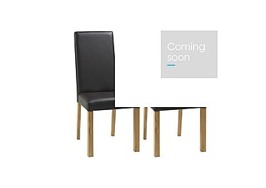 Compton Pair of Oak Upholstered Dining Chairs in  on Furniture Village