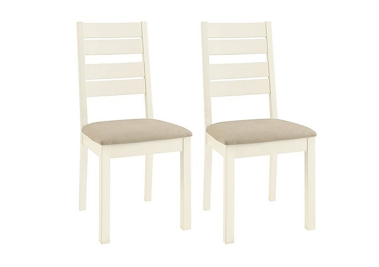 Compton Pair of Slatted Dining Chairs in  on Furniture Village