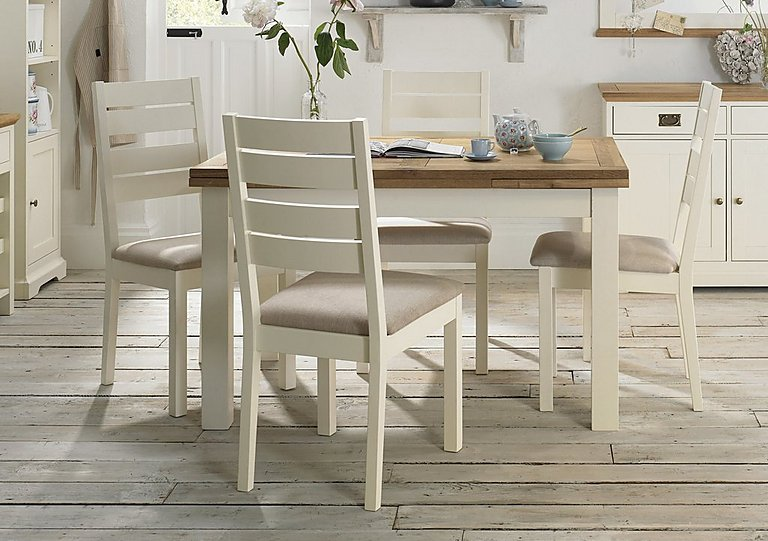 Compton Pair Of Slatted Dining Chairs