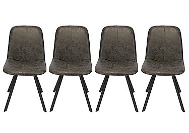 Diego Set of 4 Dining Chairs in  on Furniture Village