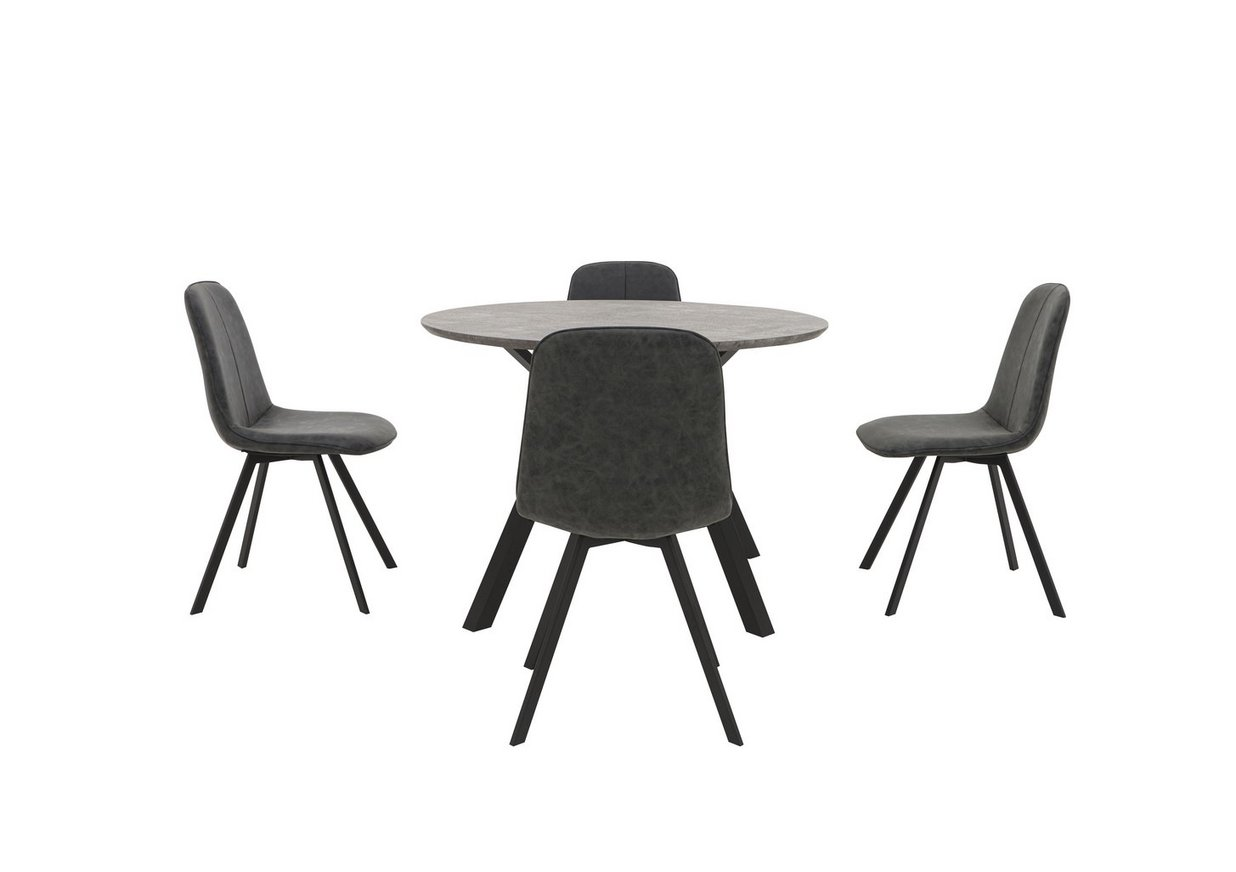 Diego Round Dining Table and 8 Dining Chairs