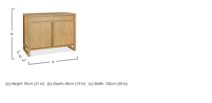 Dijon Narrow Sideboard in  on Furniture Village