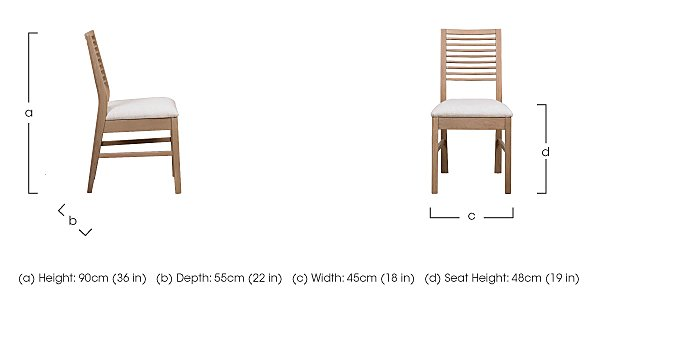 Dixon White Washed Oak Dining Chair in  on Furniture Village