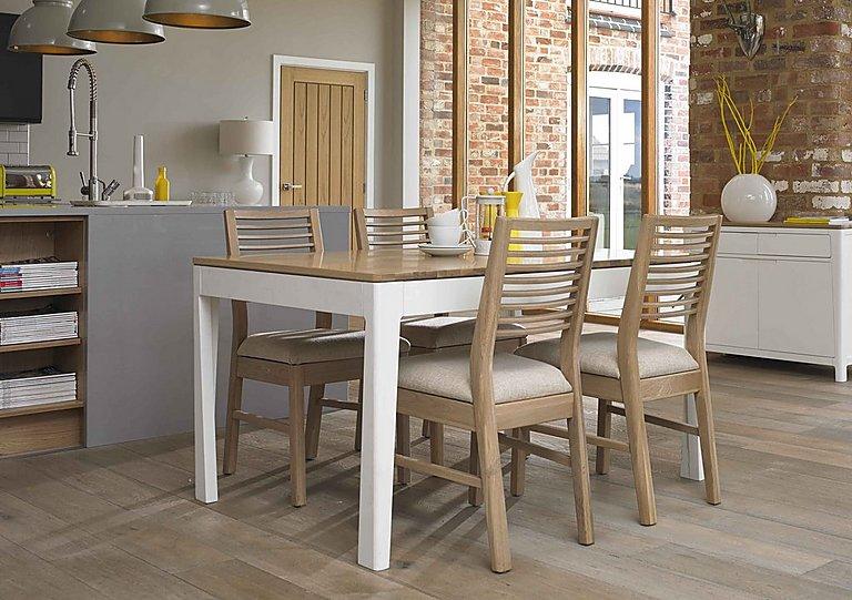 Dixon White Washed Oak Dining Chair - Furniture Village