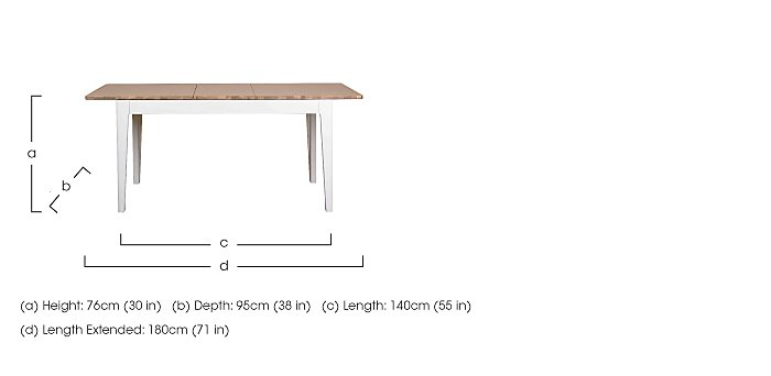 Dixon Small Extending Dining Table in  on Furniture Village