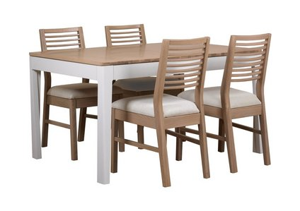 Dixon Small Extending Dining Table With 4 Oak Chairs
