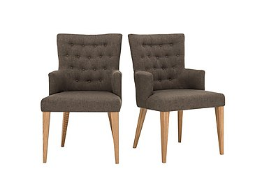 Dorset Pair of Fabric Dining Armchairs in  on Furniture Village