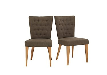 Dorset Pair of Fabric Dining Chairs in  on Furniture Village